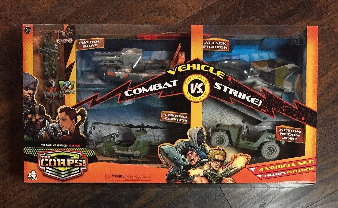 BRAND NEW 2018 Lanard Toys The Corps Vehicle Combat Strike (4) Vehicle Set