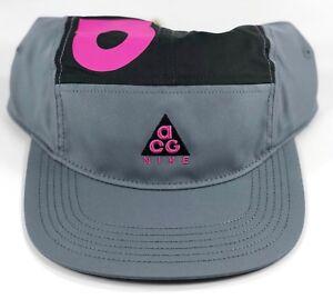 89d66b3f Nike NikeLab ACG Dry AW84 Grey Black Purple 5 Panel Adjustable Hat ...
