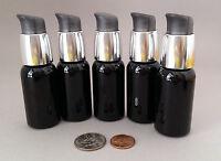 5 Black Grey Silver Plastic Lotion Turnlock Pump Dispensing Bottles 1oz 30ml