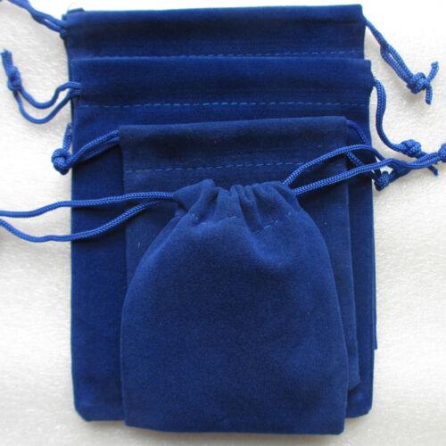 10-100 Rojo Negro. Terciopelo Bolsas de regalo bolsas gruesas paquete de embalaje de joyas