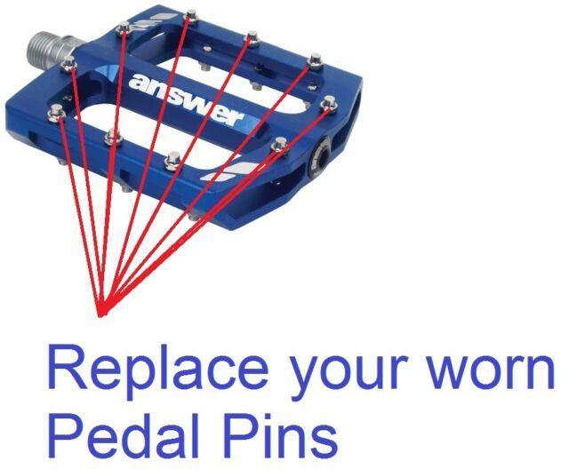 NEW Set of 40 Answer Rove Flat Pedal Pins Platform Screws Spikes Flats FR R2