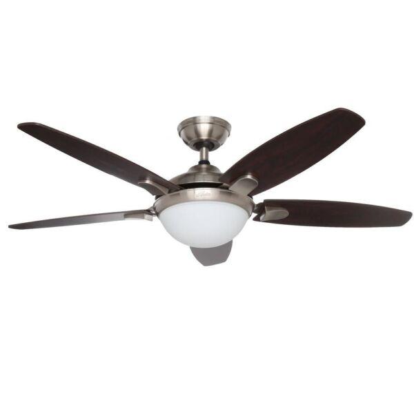 Hunter Contempo 52 Inch Ceiling Fan W/ Light Kit & Remote