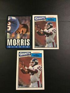1985-amp-1987-Topps-11-120-JOE-MORRIS-Lot-3-W-Rookie-EXT-New-York-Giants