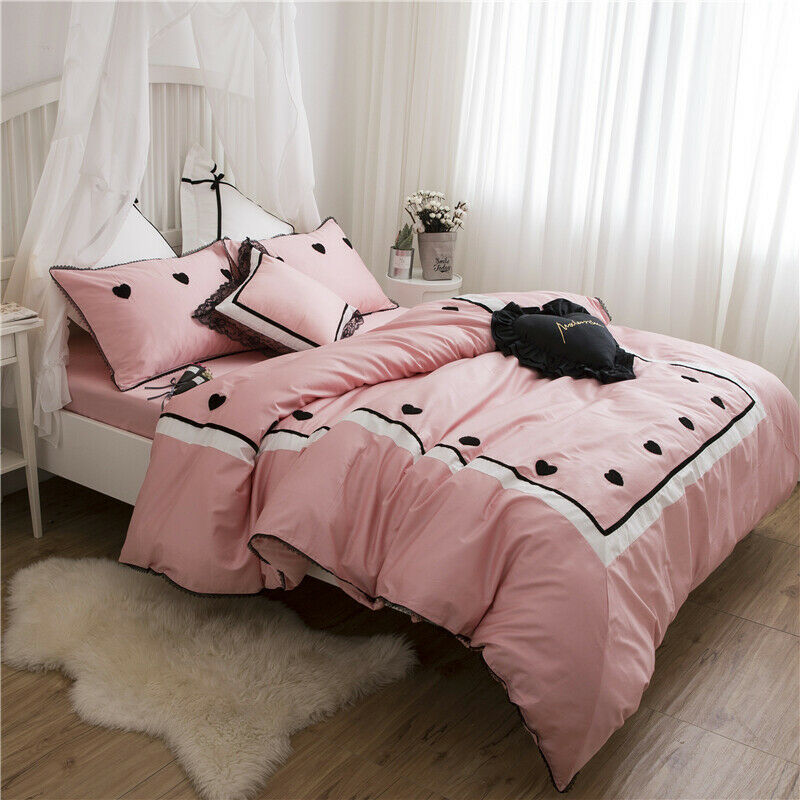 Egypt Cotton Sweet dreams Luxury Bedding Set Towel Embroidery Duvet King Queen