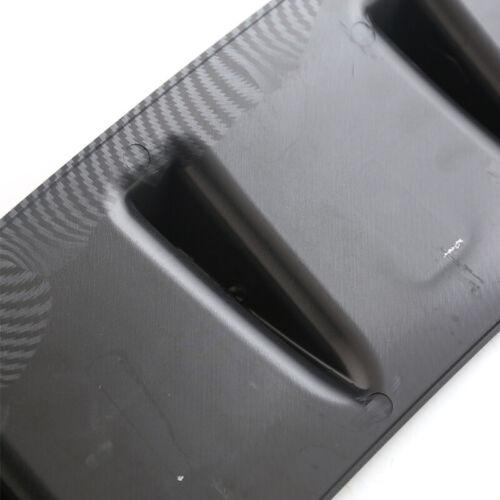 Carbon Fiber Surface ABS Car Shark Fin 5 Wing Lip Diffuser Rear Bumper Chassis
