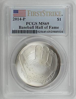 2014-P PCGS 70 DEEP ultra cameo $1 Dollar Baseball Hall of Fame FIRST STRIKE****
