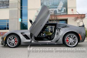 Image is loading 2015-18-Chevy-Corvette-C7-Z06-Lambo-Door- & 2015-18 Chevy Corvette C7 Z06 Lambo Door Conversion Kit by Vertical ...