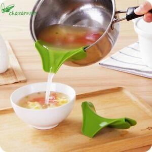Cocina-Accesorios-Silicona-Topfansatz-Pitorro-Para-Cuenco-Sartenes-Ollas
