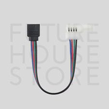 4 Pin RGB Connection Cable Colour LED Strip Connector Female Clip Click UK Stock