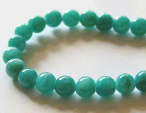 50pcs-6mm-Round-Gemstone-Beads-Malaysian-Jade-Opaque-Teal