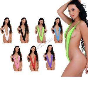 5049588d349 Sexy Women One Piece Bikini Set Monokini Swimsuit Slingshot Backless ...