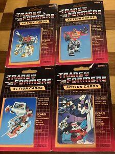 1985 G1 Transformers Action Trading Cards 4 sealed vintage pack Blaster Ratchet