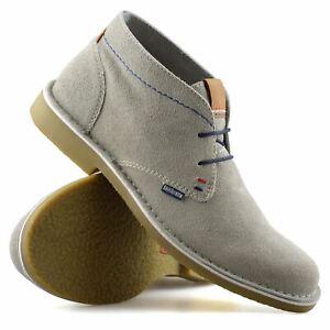 Homme-Lambretta-Cuir-Daim-Decontracte-Chukka-a-Lacets-Desert-Bottes-Chaussures-Taille