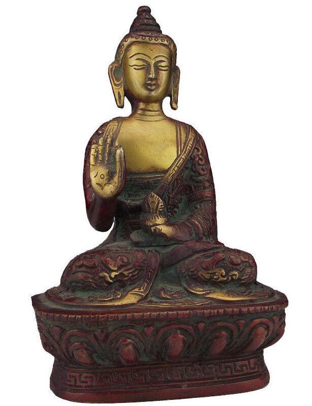 Buda personaje estatua de bronce Yoga Meditación