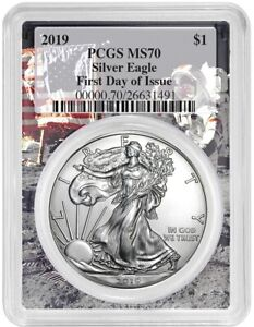 2019-1oz-Silver-Eagle-PCGS-MS70-First-Day-Issue-Space-Frame