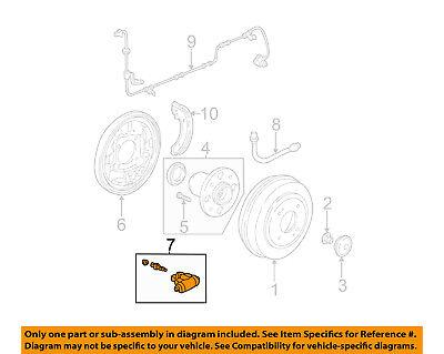 Genuine Honda 43300-S7B-003 Drum Brake Wheel Cylinder Assembly