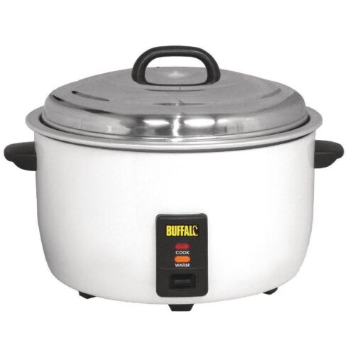 Buffalo Electric Rice Cooker 10Ltr Commercial Kitchen 230V 92 Portions