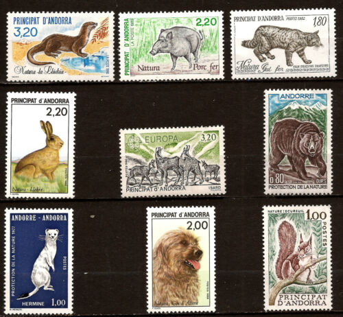 ANDORRA animals sauvages and domestic chiens,bear, various 52MD108