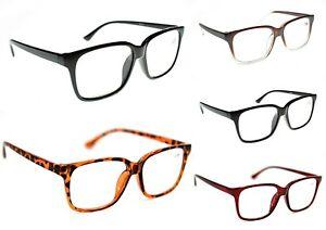 e0d6b508b5 Details about Unisex Stylish Geek Nerd Fashion Metal Hinged Reading Glasses  5 Colours TN44