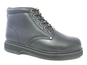 Vegace-Men-Steel-Toe-Black-Leather-Boot-Work-Restaurant-Oil-Slip-Resistant-9008