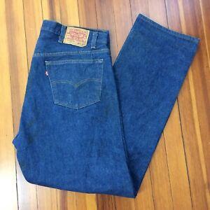 Vintage 90 s Levi s 501 Button Fly Denim Jeans Tag Size 42 x 36 ... 0e526c35faa