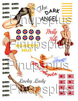 Vinyl Wwii Nose Art Bomber Art Pinup Girl Stickers You Trim 1032