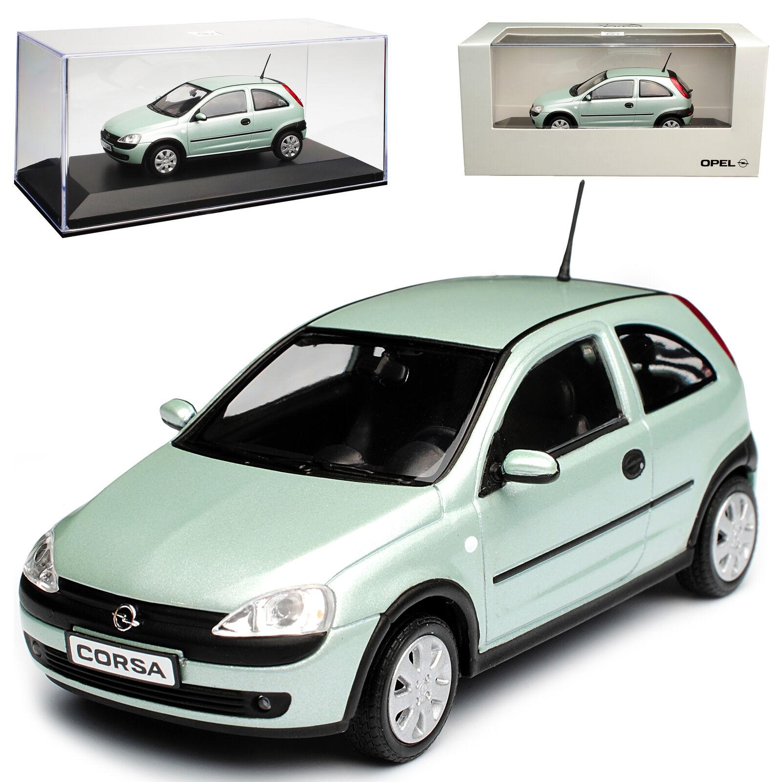 Opel Corsa C 3 Porte Bleu Vert Argent 2000-2006 2000-2006 2000-2006 1 43 MINICHAMPS Modèle Voiture Mi... 705285