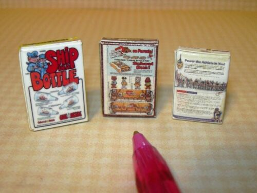 """DOLLHOUSE 1:12 Scale Miniature Trio of /""""POST/"""" Brand Cereal Boxes SET #3"""