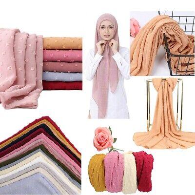 New Plain Hijab Women Wraps Scarf Ladies Chiffon Headband Shawls Muslim Scarves