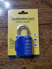 Disecu Combination Lock Fashion Security Blue Red Black Or Silver Ch 17