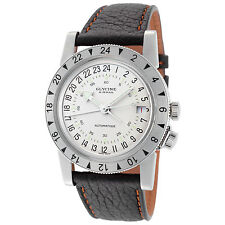 Glycine Unisex 3944.11 LB77U Airman No.1 Automatic GMT White Dial Black Leather