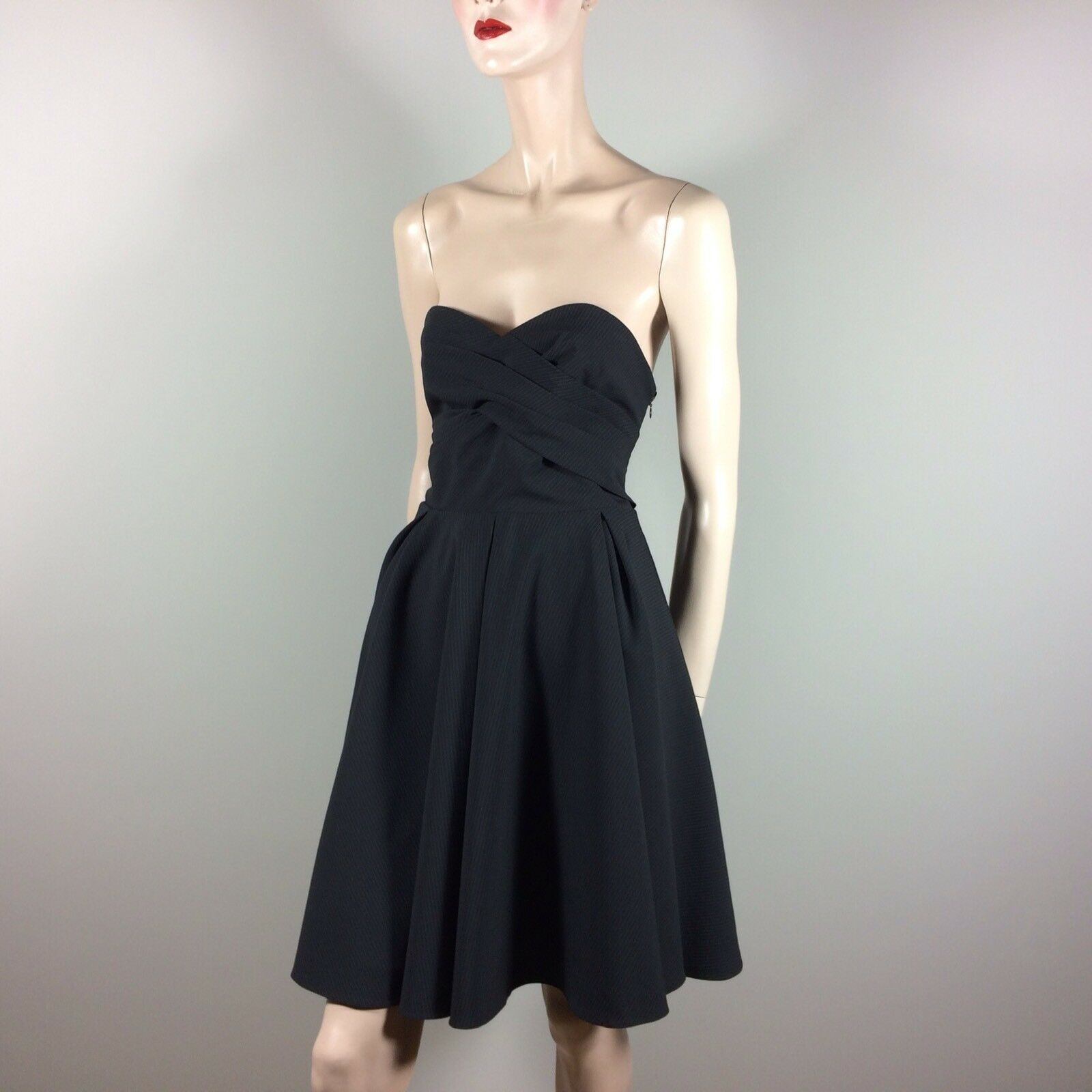 PAUL & JOE SISTER Damen Kleid L 40 Schwarz Designer Couture Vintage Look Flare