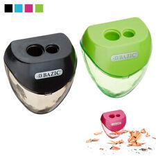 2 Set Pencil Sharpener Double Hole Cutter Colors School Supplies Office Art Kids