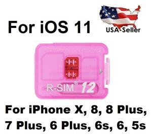 7da2e2609c6 RSIM 12+ LOT 2019 R-SIM Nano Unlock Card fits iPhone XR X 8 7 6 6S ...