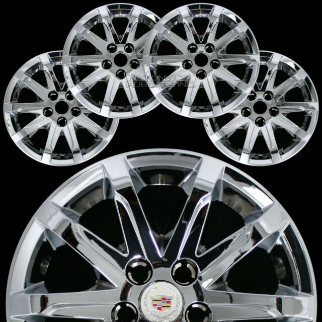 """Cadillac Cts For Sale Utah: 4 Fits 2014 15 2016 Cadillac CTS 17"""" Chrome Wheel Skins"""