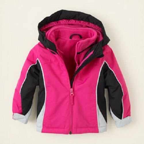 The Childrens Place 3 In 1 Hooded Coat /& Jacket ~ Size 9-12 Months ~ NWT