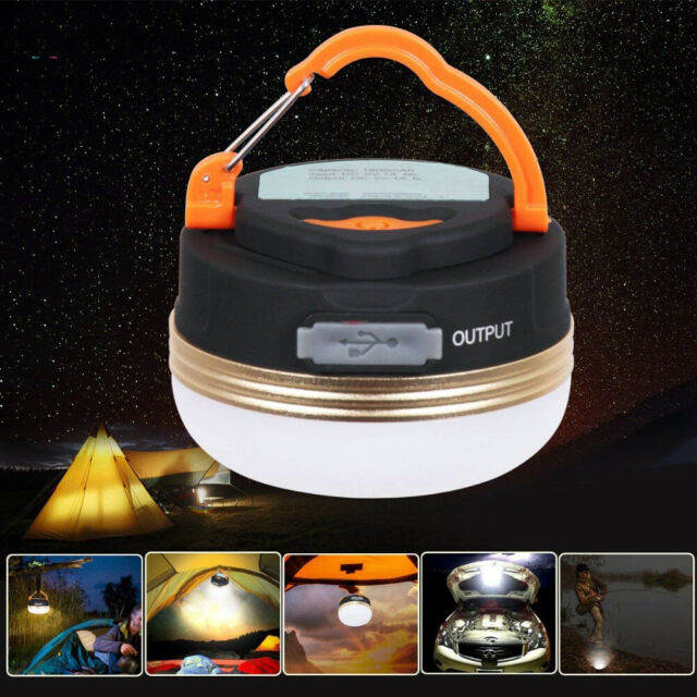 Hiking Mini Outdoor LED USB Tent Lamp Camping Light Flashlight Hanging Lantern l