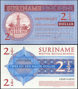 Suriname-2-1-2-Dollar-NEUF-01-01-2004-Billet-de-banque-Cat-P-156a