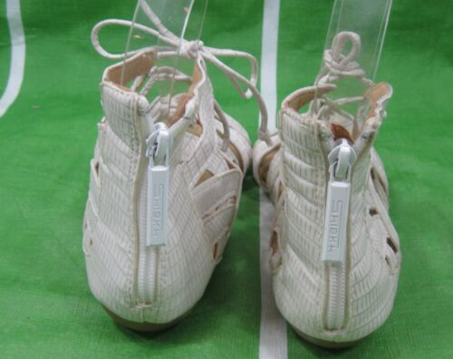 Details about  /NEW Summer Off White Fashion Gladiator Front Lace Up Sandals WOMEN Size 6.5