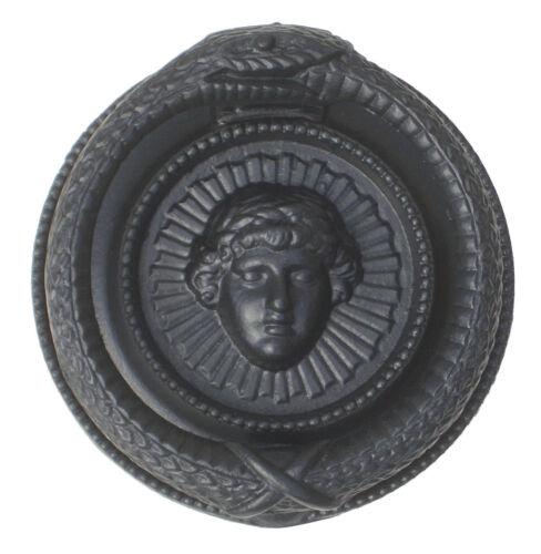 antique period knockers Black Cast Iron Regency Serpent Ouroboros Door Knocker