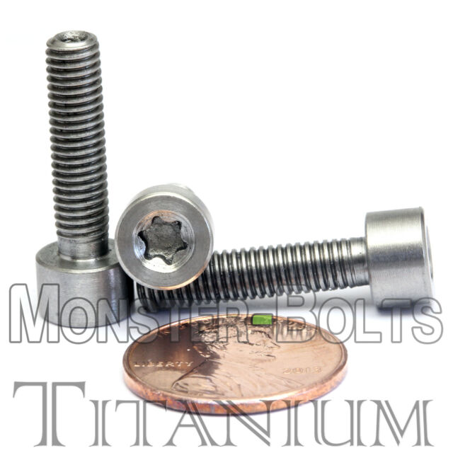 M9 x 1.25 x 40 Titanium Ti Screw Fine Thread Bolt Allen Hex Socket Cap Head