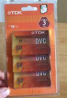 Tdk Mini Dvc Video Mini Cassette 3 Pack Sealed Dv Dvc 60 Free Shipping