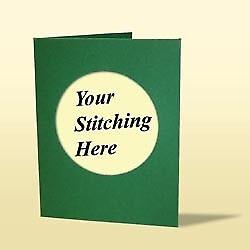 DOPPIA piega Cartolina /& busta per montare un stitchlet Verde Scuro