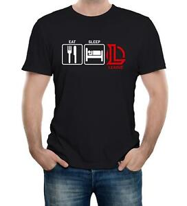 Eat-Sleep-League-Mens-T-Shirt-Inspired-Gaming-Computer-Strategy
