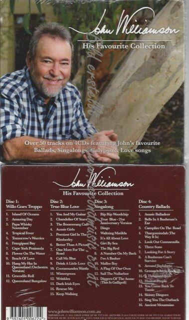 CD--His Favourite Collection  //  John Williamson //4 CD