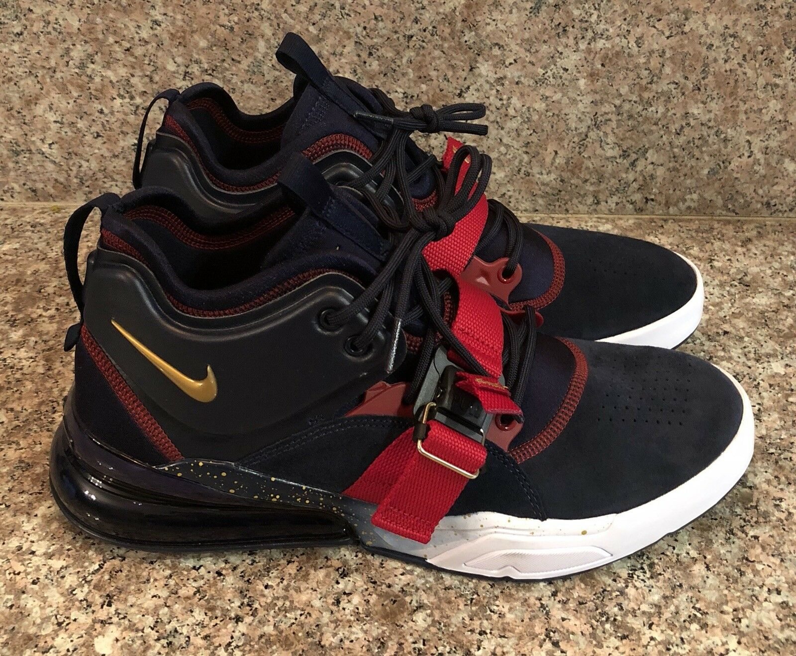 Nike Air Force 270 Olympic Dream Team USA   Obsidian gold Max AH6772 400 Mens 10
