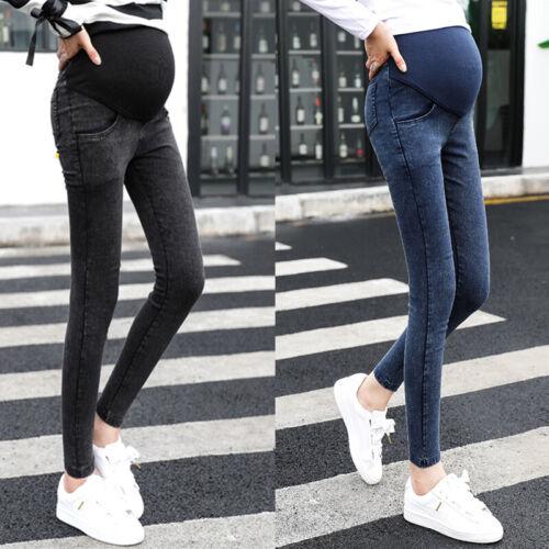 Pantaloni Donna Jeans Gravidanza Oversize Denim Taglie Skinny Premaman