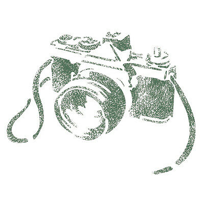 Camera Stencils for Crafting Template DIY Room Decor Wall art furniture