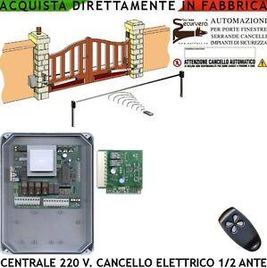 Cancello Elettrico A Due Ante.Cancello Automatico Centrale Ctr17 1 2 Ante Motori 220 V Scheda Radio 1 Radiocom Ebay