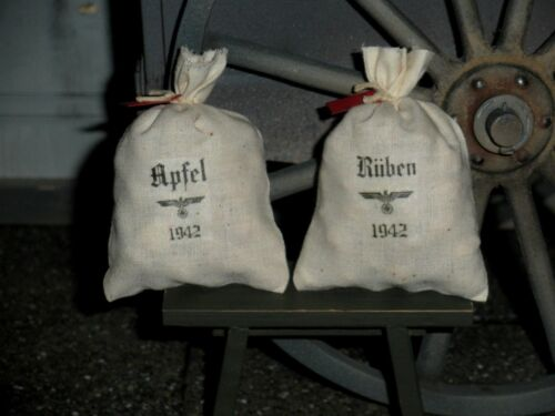 """1:6 scale German /""""Apples and Turnips/"""" food supply sacks for Field Kitchen"""
